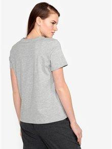 Sivé tričko s potlačou VERO MODA Henny