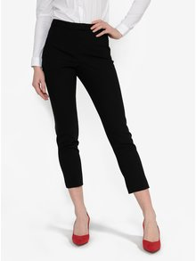 Čierne skrátené nohavice Miss Selfridge