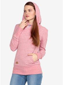 Ružová bodkovaná melírovaná mikina Ragwear Chelsea Dots