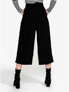 Čierne culottes nohavice VERO MODA Janjuli
