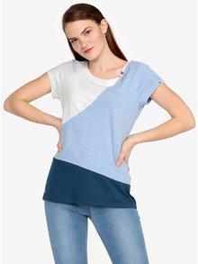 Tricou alb&albastru melanj - Ragwear Mint Block
