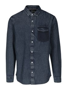 Camasa regular fit albastru melanj din denim ONLY & SONS Neville