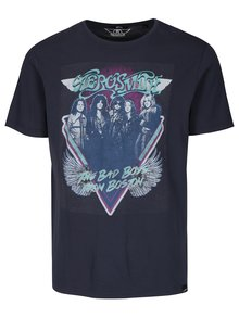 Tricou bleumarin cu print rock ONLY & SONS Aerosmith