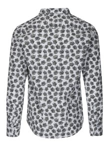 Camasa slim fit alba cu print frunze ONLY & SONS Torres