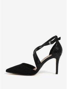 Pantofi cu toc cui negri si model piele de sarpe Dorothy Perkins