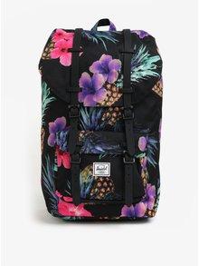 Ružovo-čierny vzorovaný batoh Herschel Little America 25 l