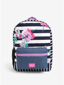 Modro–biely dievčenský pruhovaný batoh s potlačou Tom Joule