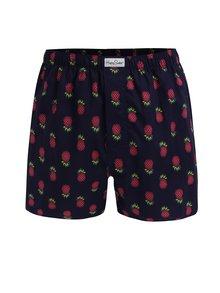 Boxeri largi bleumarin cu print - Happy Socks Pineapple