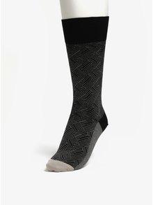 Čierne vzorované unisex ponožky Happy Socks Circuit