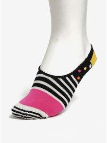 Sosete scurte multicolore pentru femei - Happy Socks Stripes Dots Liner