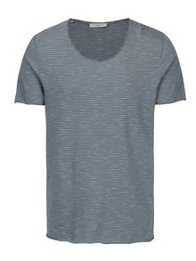 Tricou albastru in dungi - Selected Homme Newmerce