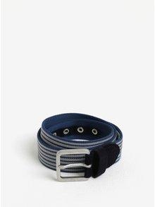 Modrý pruhovaný pásek se semišovými detaily Selected Homme Spie