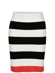 Černo-bílá pruhovaná sukně ONLY Laura
