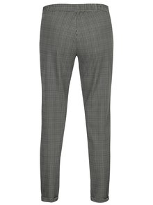 Bílo-šedé kostkované kalhoty Jacqueline de Yong Delicious