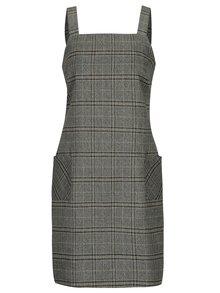 Sivé kockované šaty bez rukávov Dorothy Perkins