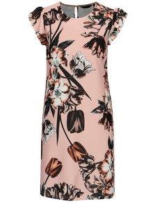 Čierno–ružové kvetované šaty Dorothy Perkins