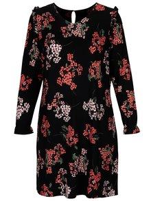 Rochie neagra cu print floral Dorothy Perkins Curve