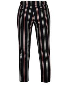 Tmavomodré pruhované skrátené nohavice Dorothy Perkins