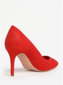 Pantofi cu toc cui rosii din piele cu model Dune London Aurrora