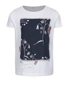 Biele dievčenské tričko s potlačou name it Havourte