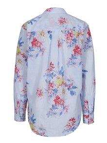 Modrá dámska košeľa s pruhovaným a kvetovaným vzorom Tom Joule