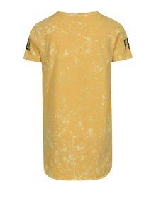 Žlté chlapčenské tričko s potlačou name it Havis