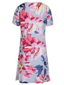 Modro-ružové kvetované šaty s krátkym rukávom Tom Joule
