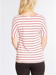 Červeno-krémové pruhované tričko s krátkým rukávem Blutsgeschwister