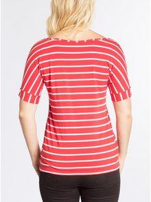 Krémovo-červené pruhované tričko s krátkým rukávem Blutsgeschwister
