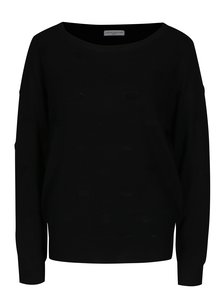 Čierny bodkovaný sveter Jacqueline de Yong Rosie