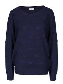Tmavě modrý puntíkovaný svetr Jacqueline de Yong Rosie