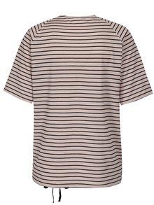 Starorůžové pruhované tričko Jacqueline de Yong Buzz