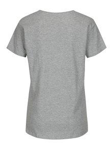 Světle šedé tričko s výšivkou plameňáka Jacqueline de Yong Perfect