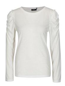 Krémové tričko s riasením na ramenách Jacqueline de Yong Fanny