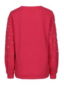 Bluza roz aprins cu margele ONLY Asti