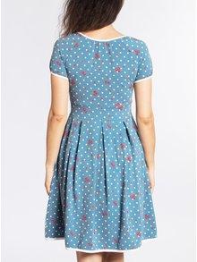Modré vzorované šaty s krátkým rukávem Blutsgeschwister