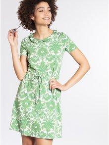 Zelené vzorované šaty s límečkem Blutsgeschwister