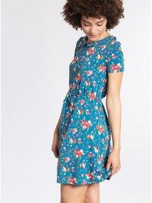 Modré vzorované šaty s límečkem Blutsgeschwister