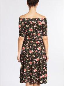Černé květované šaty s odhalenými rameny Blutsgeschwister