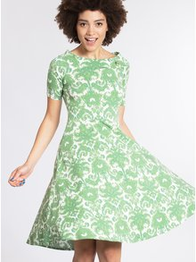 Rochie verde cu imprimeu si decolteu carmen - Blutsgeschwister