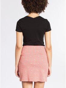 Červená pouzdrová vzorovaná sukně Blutsgeschwister