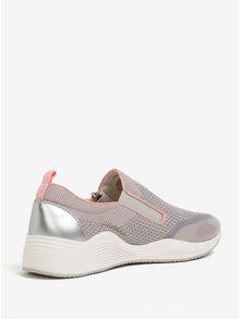 Ružovo-sivé dámske tenisky na zips Geox Omaya