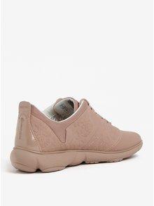 Pantofi sport roz prafuit cu model floral pentru femei Geox Nebula