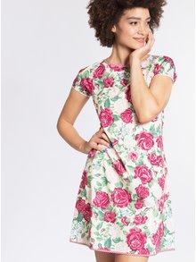 Krémové květované šaty Blutsgeschwister