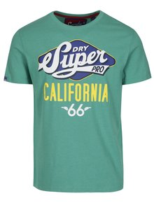 Zelené tričko s potlačou a krátkym rukávom Superdry Classic