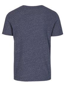 Modré žíhané tričko s potiskem Superdry Real