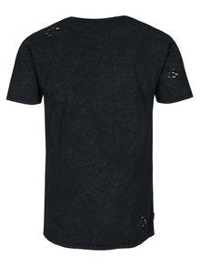 Tmavě šedé tričko s potrhaným efektem Superdry