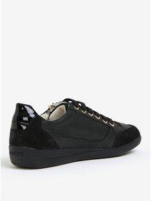 Čierne dámske kožené tenisky Geox Myria