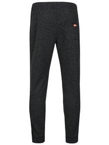 Pantaloni sport slim fit gri inchis cu logo brodat Superdry