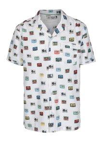 Biela vzorovaná košeľa s náprsným vreckom Original Penguin Cassette